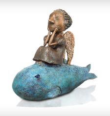 Girl on a fish