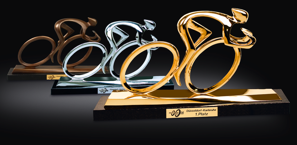 Trophies for the Tour of Germany