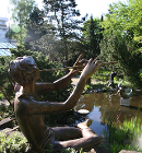 Strassacker sculpture garden, The Flute Player
