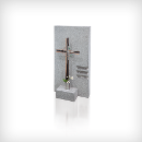60238 Cross, bronze/stainless steel